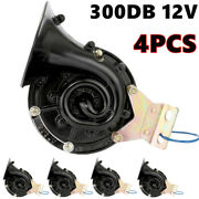 4pcs Universal 300db Electric Horn Trumpet For Car Motorcycle Truck Train C7a3