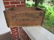 Vintage Pittsburgh Brewing Co Uniontown Pa Wooden Crate Wood Box Beer Bottle