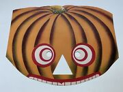 Great Ca1900 Lithograph Halloween Crazy Jack O'lantern Mask Excellent Antique