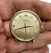 And Co 14k Yellow Gold Mens Antique Vintage Automatic Watch-parts/repair