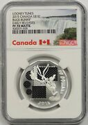 2015 Canada Silver 10 Ngc Pf 70 Matte Looney Tunes Bugs Bunny Early Releases