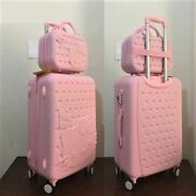 Hello Kitty 26 Trolley High Quality Abs Suitcase Luggage Travel Set Light Pink