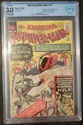 Amazing Spider-man 14 Cbcs 3.0 1st Green Goblin Married 5th Wrap Off White/wht