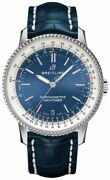 Breitling Chronometer Navitimer 38mm Blue Dial Steel Menand039s Watch A17325211c1p1