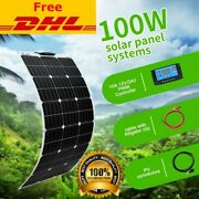 New 100w Solar Panel Kit 18v Home System Battery Car Home Outdoor Power Charging