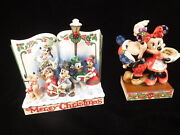 Jim Shore Disney Tradition Merry Christmas And Under The Mistletoe Mickey And Minnie