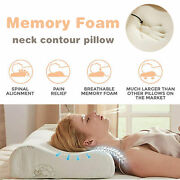Bed Pillow Contour Memory Foam Pillow Neck Back Support Orthopaedic Firm Head