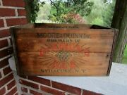 Vintage Moore And Quinn Brewers Syracuse Ny Wooden Crate Wood Box Beer Bottle
