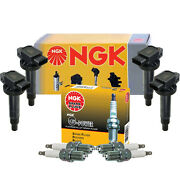 Ngk 4 Ignition Coils And 4 G-power Platinum Spark Plugs Kit For Prius Yaris Xa Xb