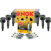 Ngk 6 Ignition Coils And 6 G-power Platinum Spark Plugs Kit For Ford Mazda Mercury