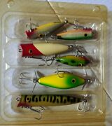 Lot Of 6 Sniderandrsquos Wooden Fishing Lures - Handcrafted Wooden Lures - New Lot B