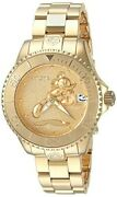 Disney Women's 38mm Mickey And Minnie Mouse Gold Stainless Watch 24533