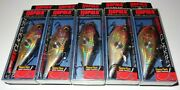 Lot Of 5 New Discontinued Rapala Cnr-8 Clackinand039 Rap Fishing Lures Purple Gold-pg