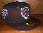 Exclusive Brown Detroit Tigers New Era 5950 Fitted Hat - Size 7 1/8