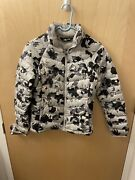 Womens Puffer Jacket Down Coat Arctic Winter White Camo Size Small S
