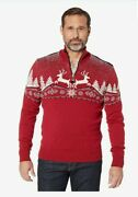 Dale Of Norway Mens Sweater Masculine Christmas Xl Red Quarter Zip Sealed