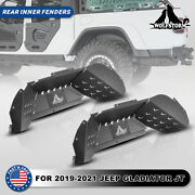 Wolfstorm Rear Inner Fender Liners For 2019-2021 Jeep Gladiator Jt Powder Coated