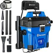 Vacmaster Wall-mount Wet Dry Vacuum Cleaner Remote Control 5 Gallon   5 Peak Hp