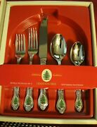 Wallace Spode Christmas Tree 20 Piece Service For 4 Unused Stainless Flatware