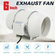 6 Inch Fan Extractor Duct Hydroponic Inline Exhaust Air Cooling Vent 75w