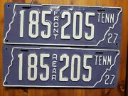 1927 Tennessee License Plate Set