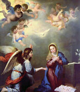 Dream-art Oil Painting Bartolome Esteban Murillo - Annunciation Madonna And Angels