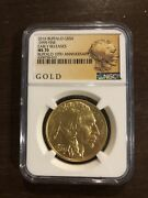 2016 American Buffalo Gold Coin 50 Early Release Ms70 10th Anniversary