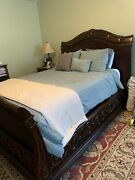 American Signature Bedroom Set Queen Size Bed Frame With 2 Night Stand