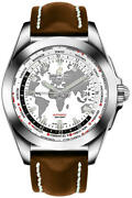 Breitling Galactic Unitime White Dial Steel 44mm Menand039s Watch Wb3510u0-a777-437x