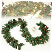 9 Foot Artificial Christmas Garland With Lights Battery Operated Lighted