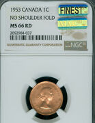 1953 Nsf Canada Cent Ngc Ms-66 Rd Pq Mac Finest Graded Spotless Pop-4