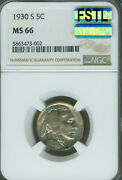 1930-s Buffalo Nickel Ngc Ms66 Mac Full Split Tail And Spotless 2nd Finest