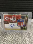 Clyde Edwards Helaire Panini One Shield Signatures /1 Kansas City Chiefs