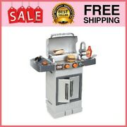 Kitchen Play Set Kids Grill Bbq Outdoor Playhouse Cooking Accessories And Food