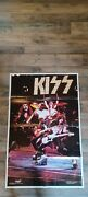 Vintage 1975 Kiss Alive Poster Boutwell Rock Steady Mgt. 36x24