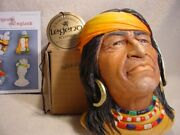 Legends Navajo Indian 13 England Wall Mask F Wright Bossons Chalkware Last One