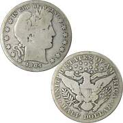 1904 S Barber Half Dollar G Good 90 Silver 50c Us Type Coin Collectible