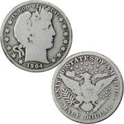 1904 S Barber Half Dollar G+ Good 90 Silver 50c Us Type Coin Collectible