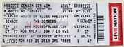 Cool The Zombies 2/26/19 New Orleans La House Of Blues Ticket Stub Hob