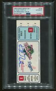 Psa Ticket Baseball 1988 World Series Dodgers Kirk Gibson Auto Signed Dna Game 1