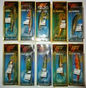 Lot Of 10 New Assorted Hrt Poland Wcl Wrn Wst Crankbait Fishing Lures