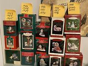 Lot Of 15 Hallmark Frosty Friends Keepsake Ornaments With Boxes Mixed 1983-2001