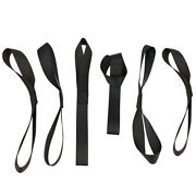 6pcs Black Sturdy Soft Loop Tie Down Straps For Towing Trailering Motorcycle