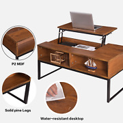 Lift-up Coffee Table Top W/hidden Storage Compartment And Shelf Coffee Table Usa