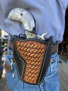 Leather Pancake Holster Heritage Barkeep 2 1/2 Or 3 Barrel Black And Tan Ruff's