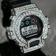 8.30 Carat Vvs1 Moissanite Genuine Casio G Shock Iced Out Watch