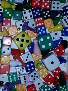 Estate Lot Mixed Variety Game Piece Dice Lucite Old New 1+ Lb Play Craft Etc