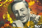 Disney Paintings Walt Limited To 195 Copies Canvas Zikre Picture Frame Types
