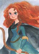 Disney Paintings Merida And The Forest Of Sedori/merida Limited To 195 Copies