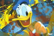 Disney Paintings Donald Duck Limited To 195 Copies Canvas Zikre Picture Frame